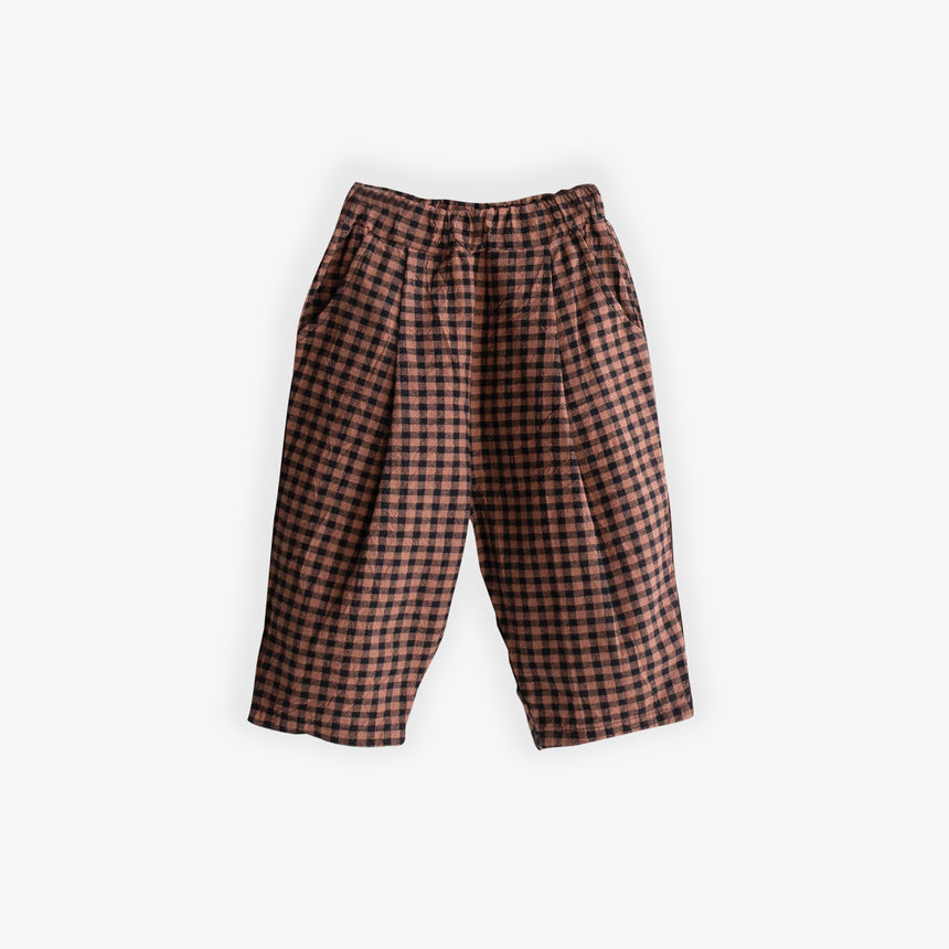 Baggy trousers - black & brown