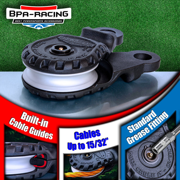 BPA-RACING 10-Ton Snatch Block - Black