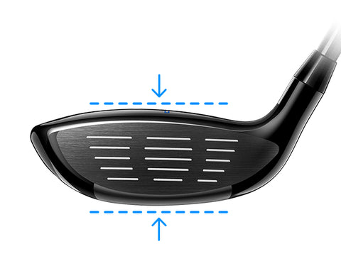 cobra fmax hybrid SHALLOW FACE PROFILE