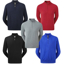 Carica l'immagine nel visualizzatore di Gallery, Footjoy Wool Blend 1/2 Zip Lined Pullover