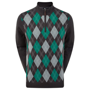 Footjoy Wool Blend 1/2 Zip Argyle Pullover