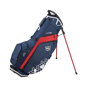 sacca golf stand wilson staff feather rosso/blu