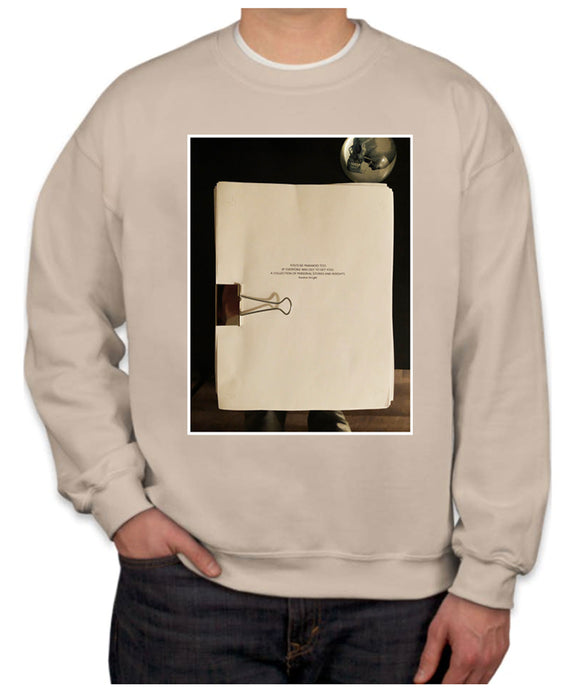Manuscript Photo Crewneck Sweatshirt
