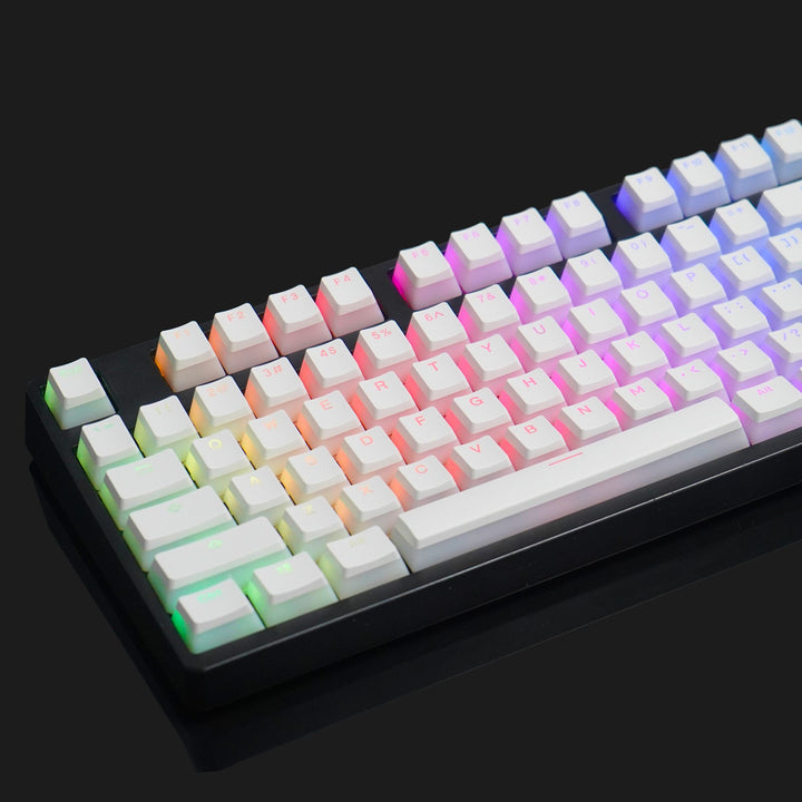 BACKLIT MILKY WHITE KEYCAP SET