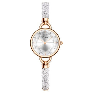 Kimio Simple Women Bracelet Watch Ladies Diamond Crystal Band