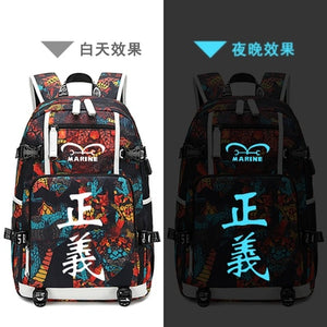 New One Piece  Luffy schoolbag Printing laptop bag Men Travel bags