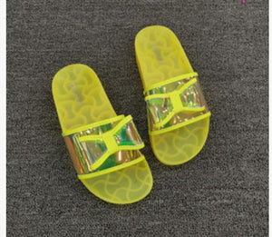 SWONCO  Jelly Shoes Slides Women Summer Slippers