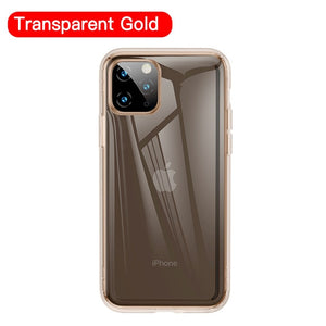 Transparent iPhone 11 Pro Max Thin Slim Clear Shockproof Cover For iPhone