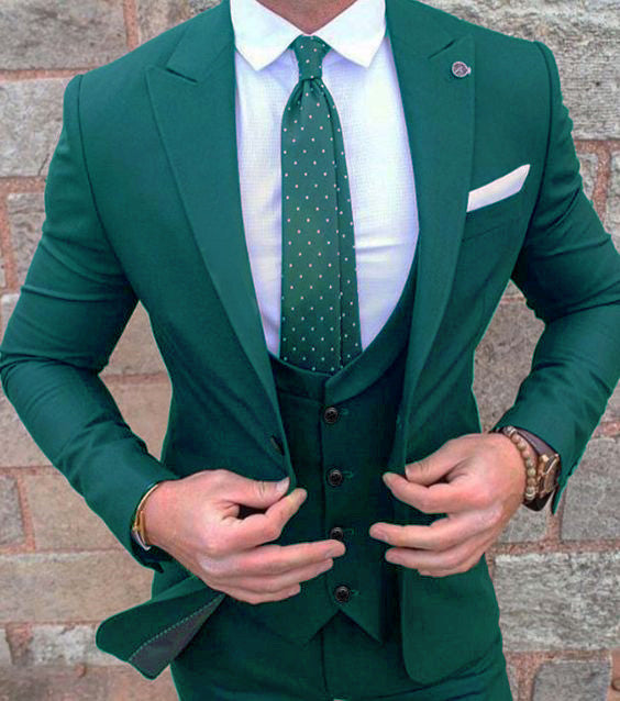 New Mens color Wedding Prom Suit