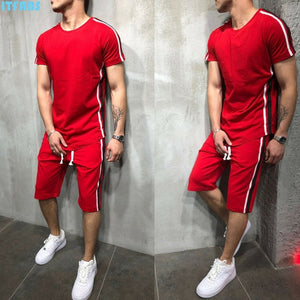 Striped 2019 Summer New Men's Shorts Casual Suits Sportswear