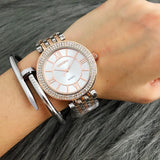 Women Contena Stainless Steel Rhinestone Wristwatches