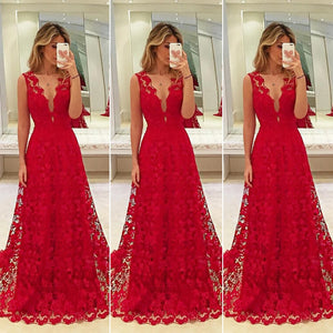 Women Long Lace Dress