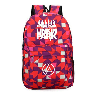 Rock Music Band Linkin Park Men Backpack Galaxy Trave Bagpack