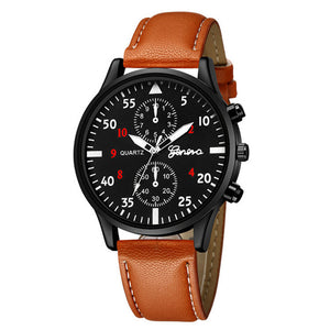 2019 Fashion Military Quartz Men Watch Leather Sport Watches