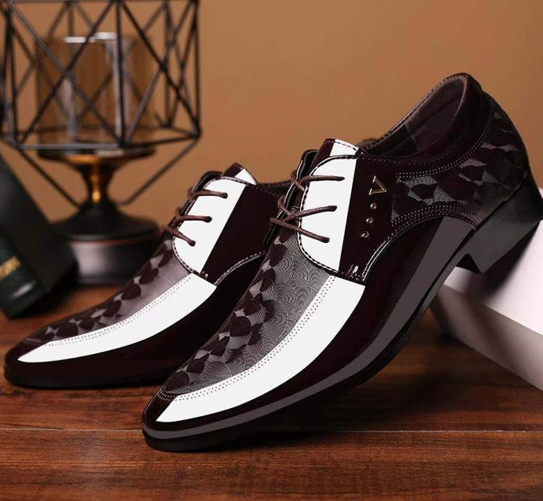 Brown Dress Wedding Leather Shoes for Men