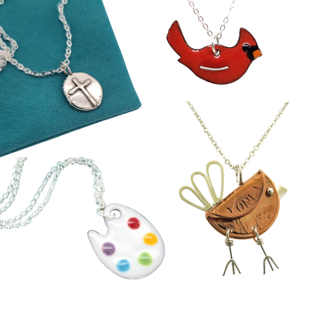 necklaces and pendants handmade by Kathryn Riechert