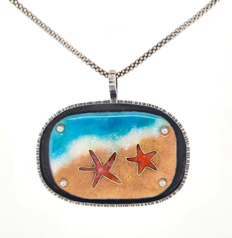 starfish necklace made by Kathryn Riechert