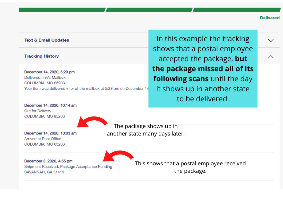 example of usps tracking