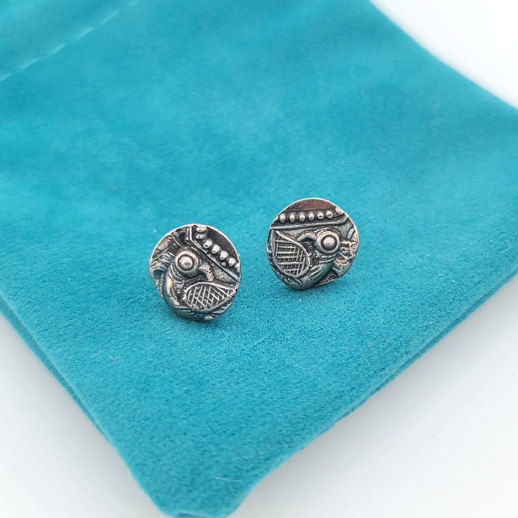 sterling silver earrings with bird design