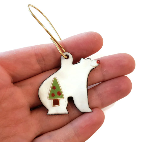Polar Bear Christmas Tree Ornament