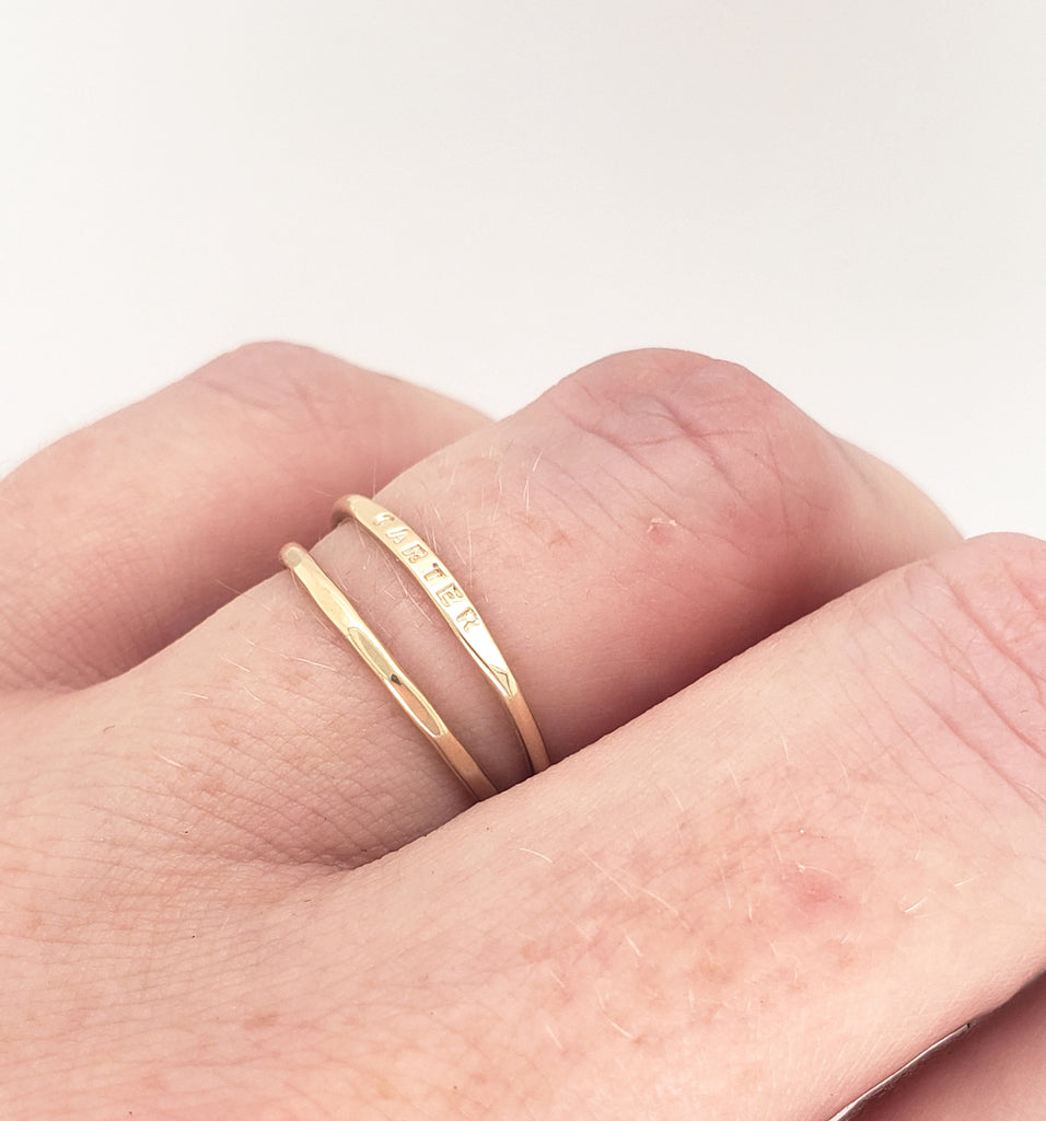 tiny little solid gold rings
