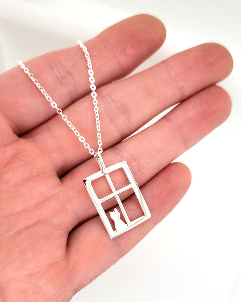 minimalist cat necklace