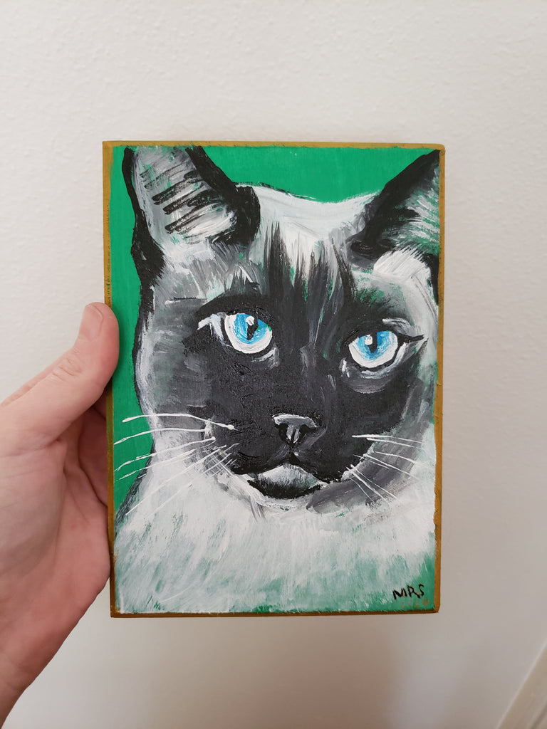 cat painting for a gift or office
