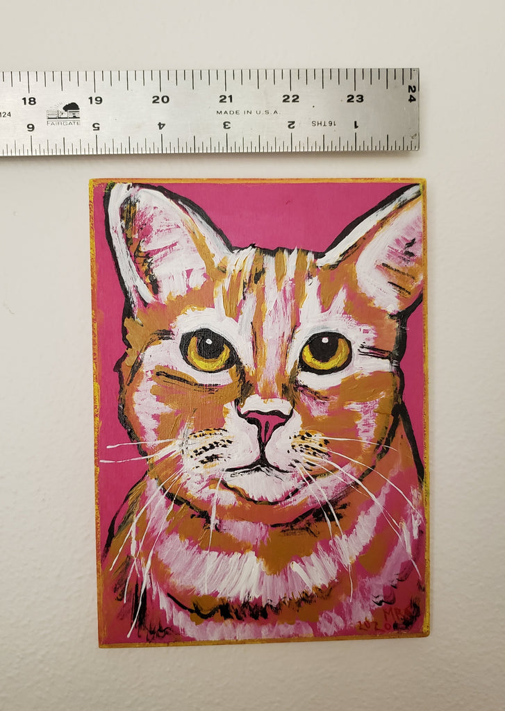 gift for a cat lover, cat art, crazy cat lady