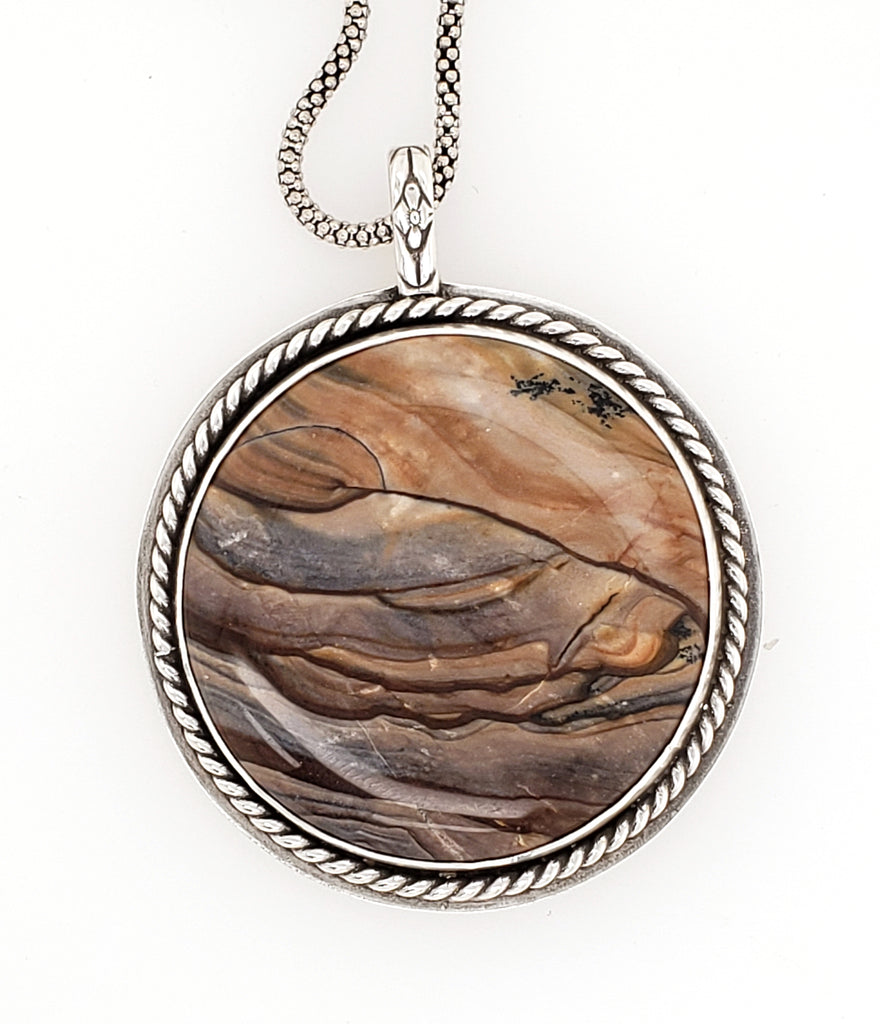 mountain scene jasper with rope border