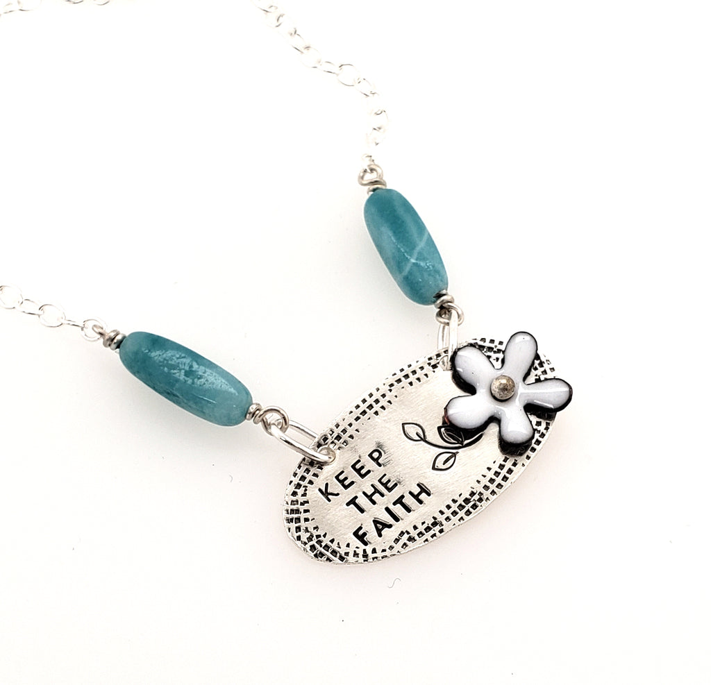 keep the faith necklace
