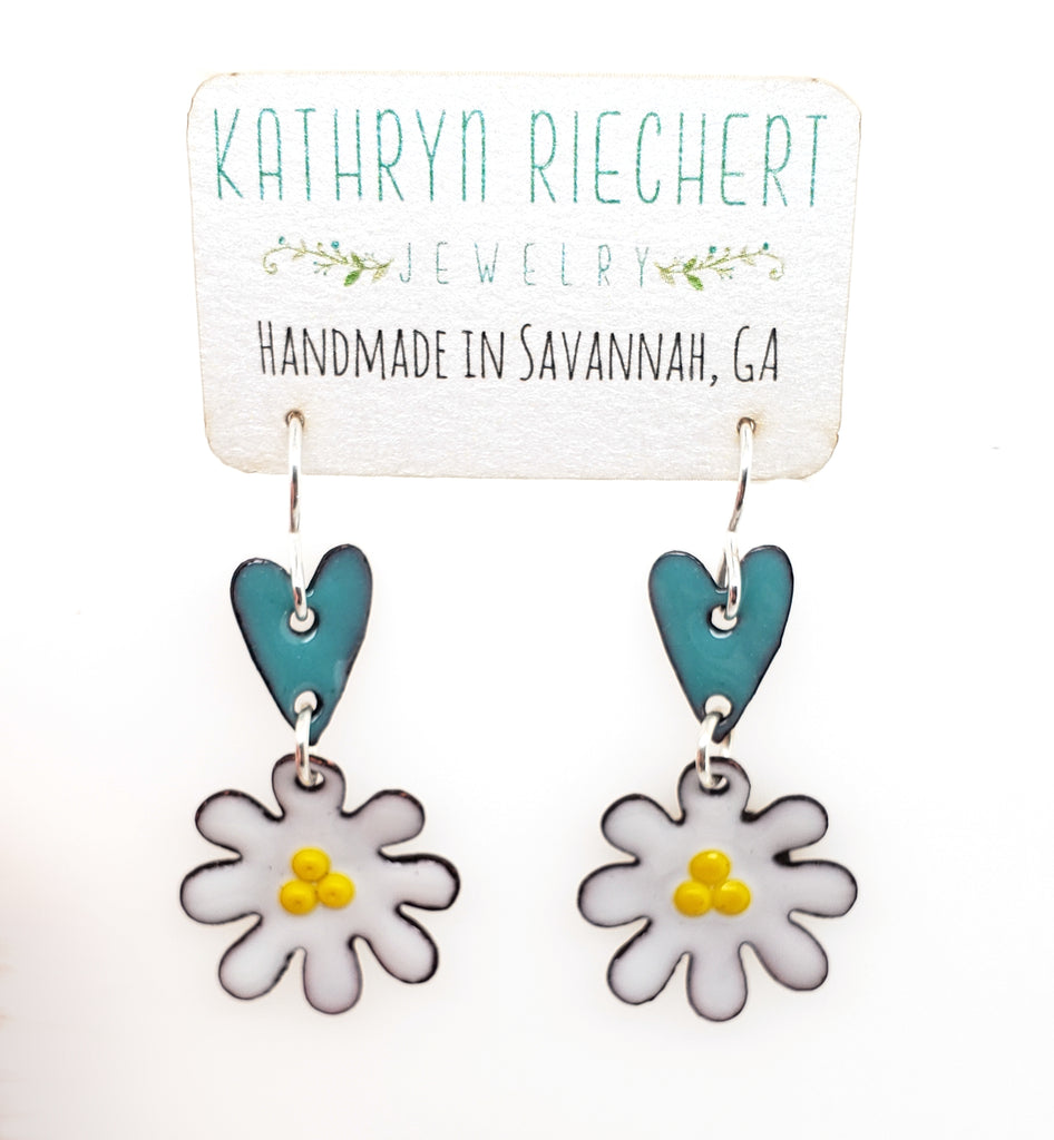 enamel dangle earrings Savannah, GA