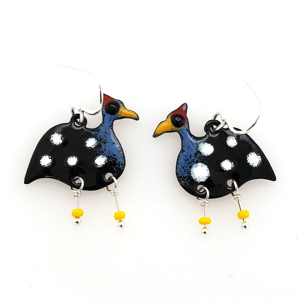 guinea fowl earrings