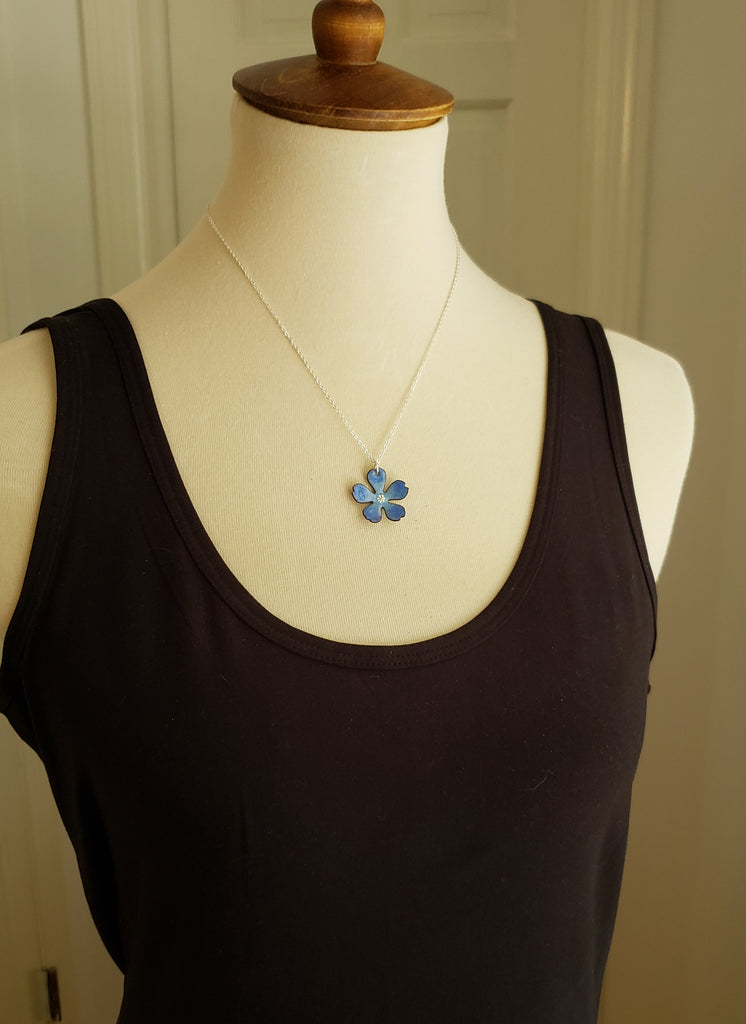 blue flower necklace by Kathryn Riechert