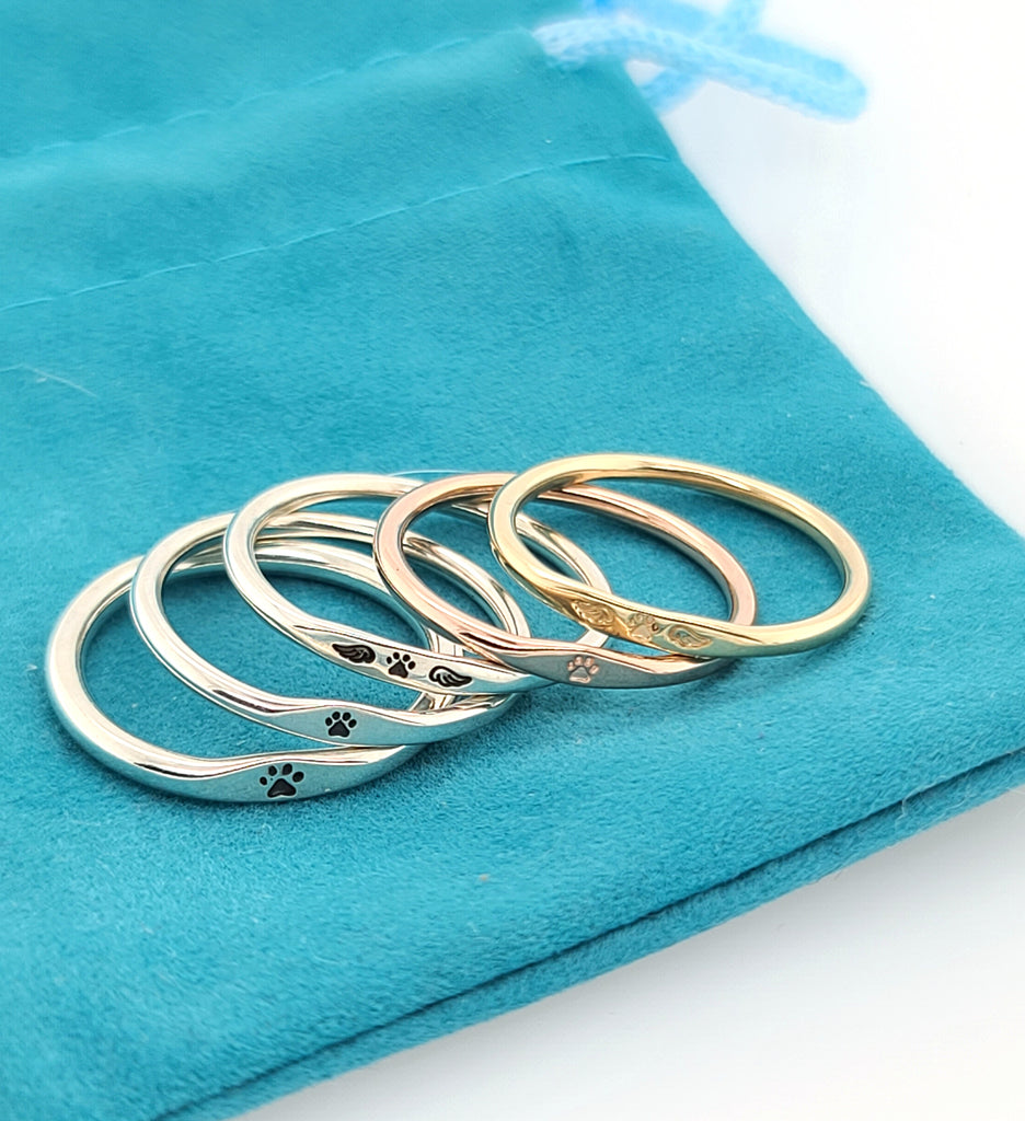 handmade stackable rings rose gold