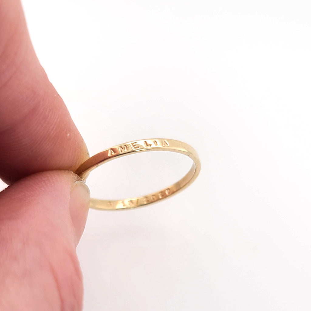 personalized solid gold ring