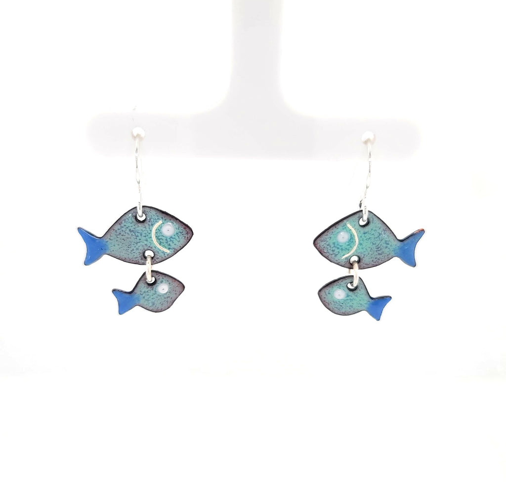 school of fish earrings