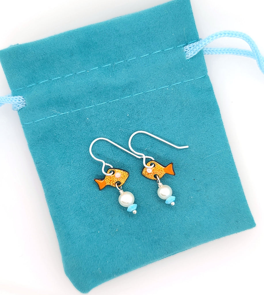 goldfish earrings by Kathryn Riechert