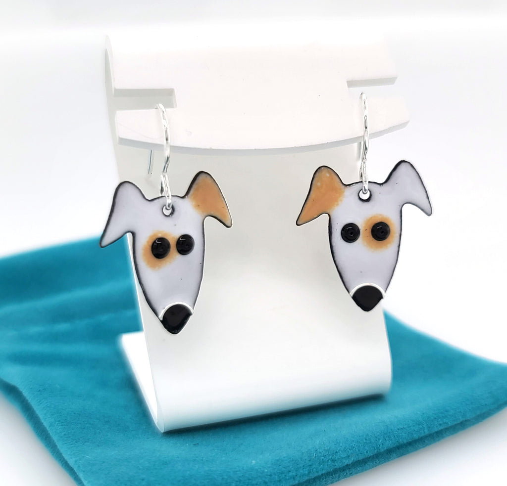 spotted dog earrings