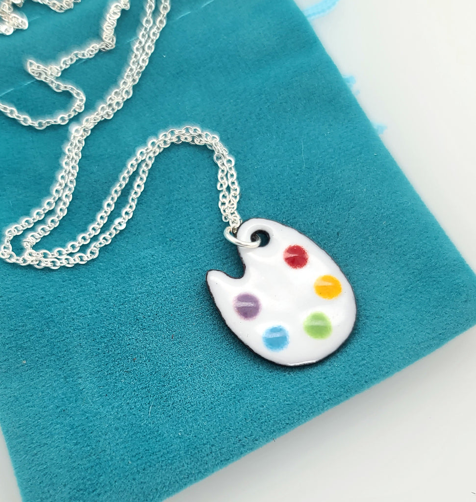 artist palette necklace by Kathryn Riechert