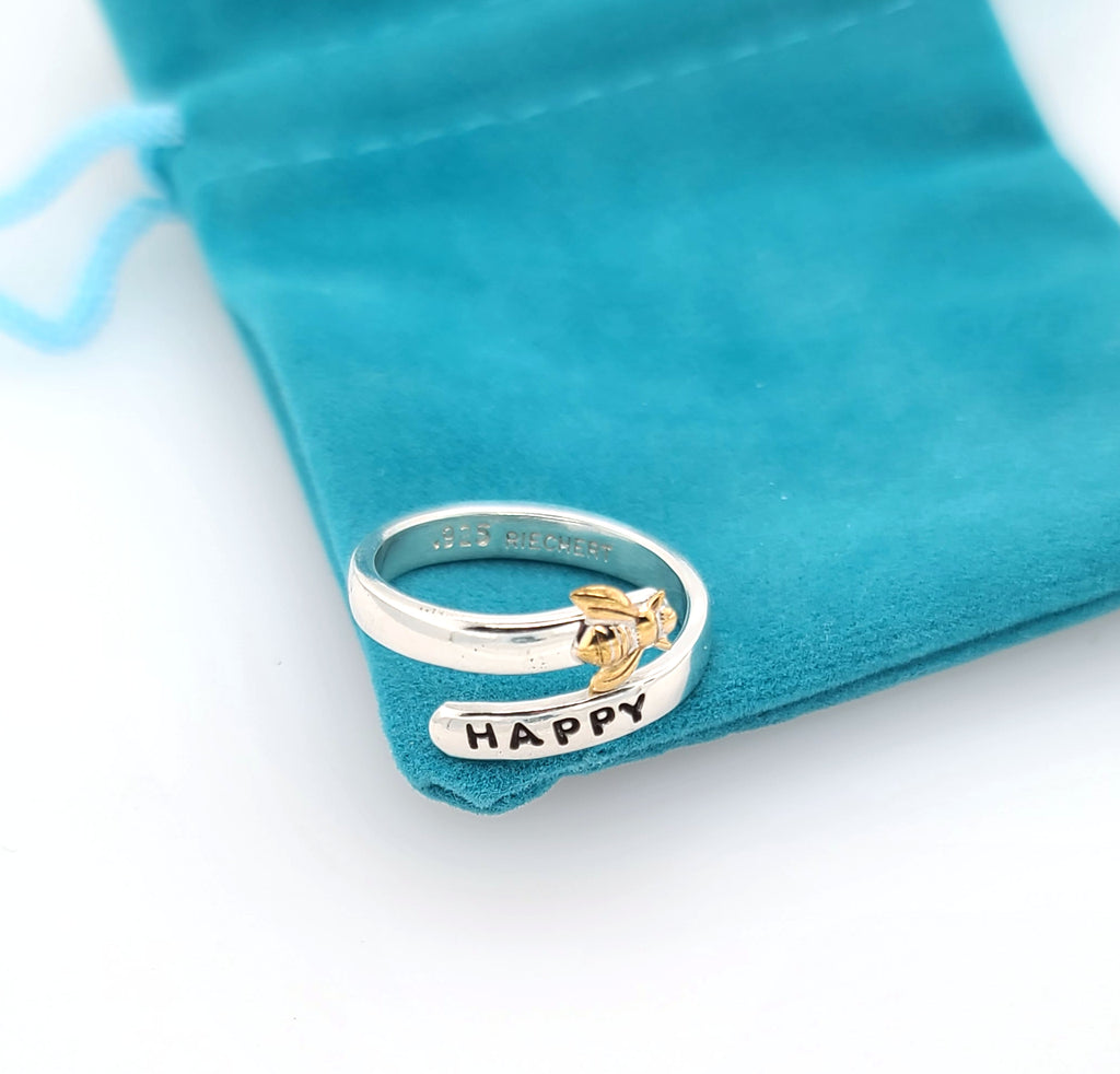 bee happy ring by Kathryn Riechert