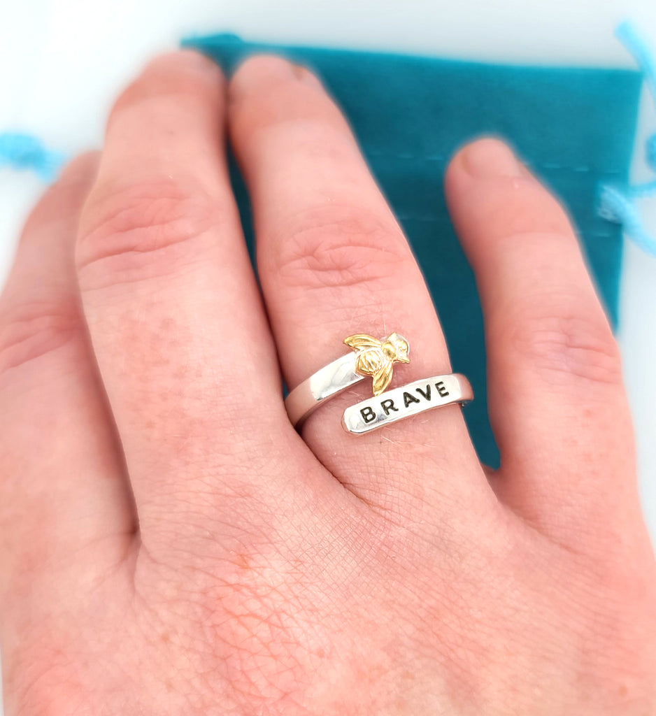 be brave, bee brave ring by Kathryn Riechert