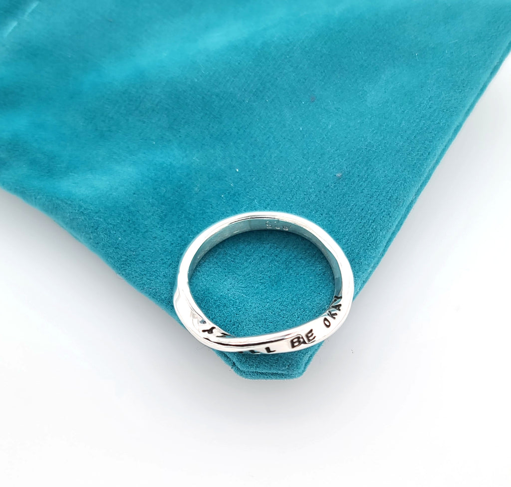 sterling silver ring with twist