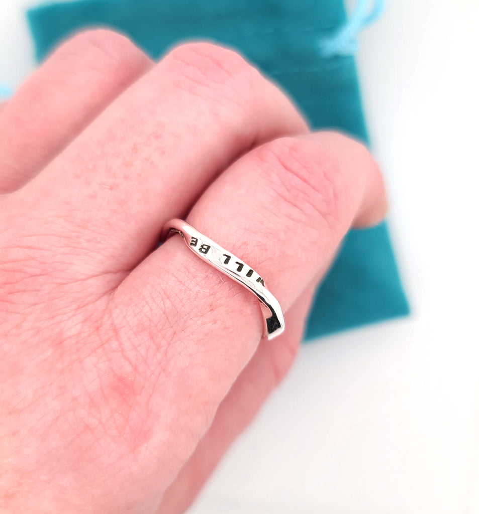 sterling silver ring with message