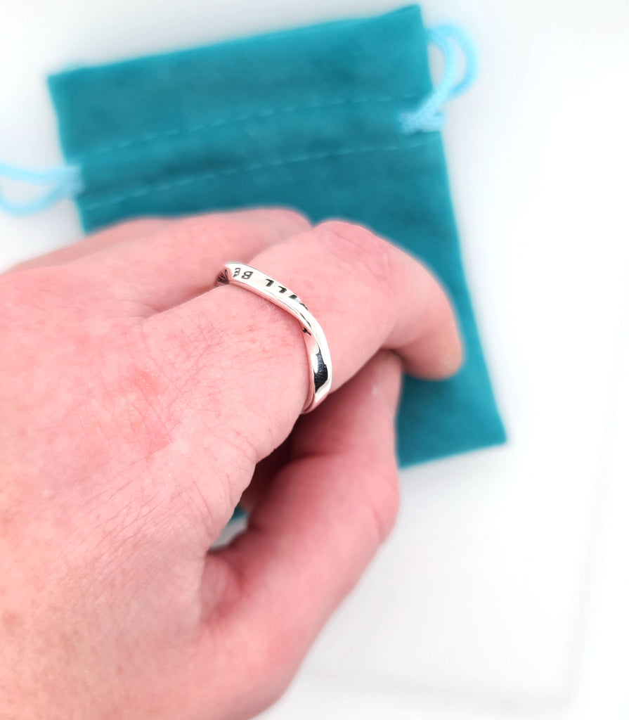 hand stamped ring by Kathryn Riechert