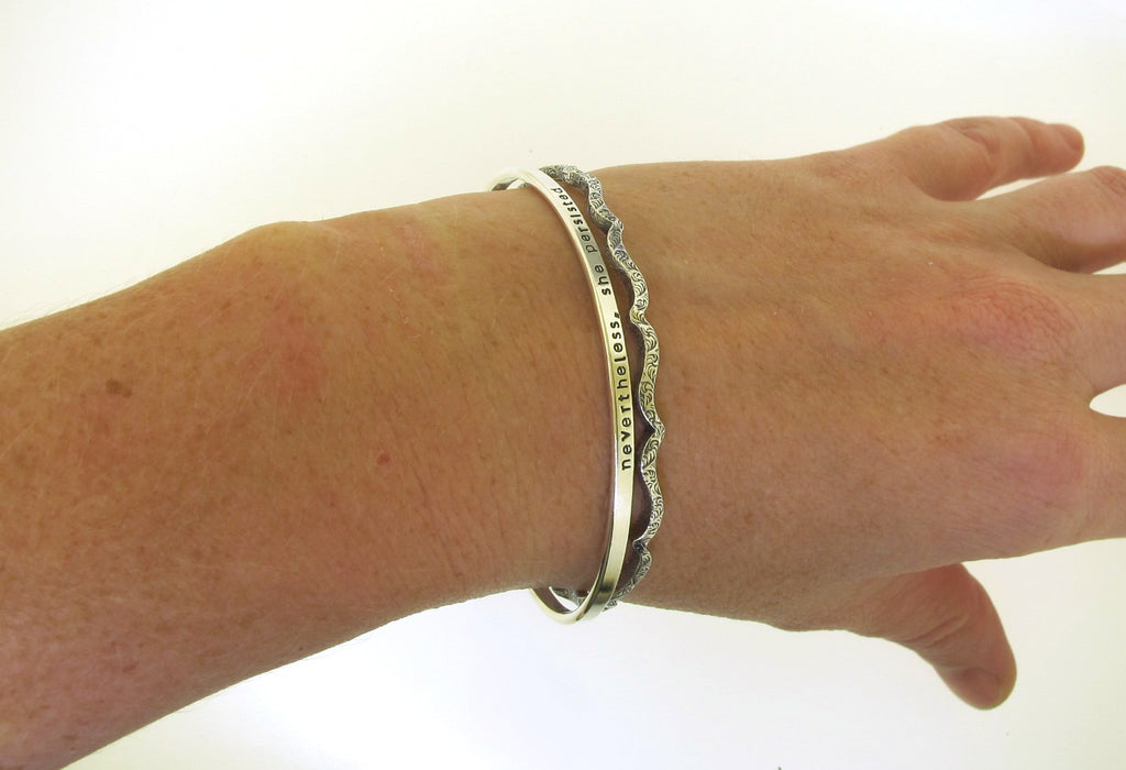 stackable bracelet in sterling silver