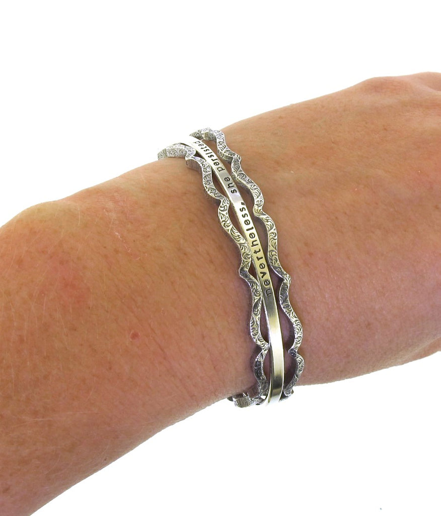 cuff bracelet created from solid sterling silver