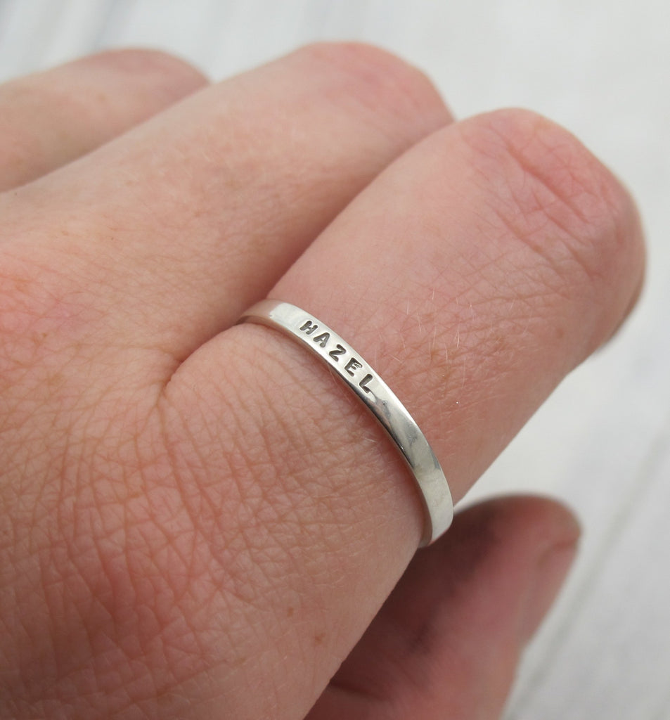 personalized ring for stacking