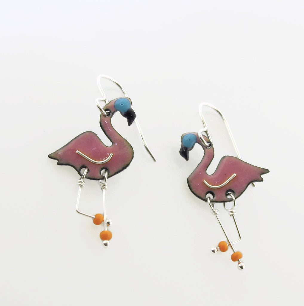 enameled earrings handmade in Savannah
