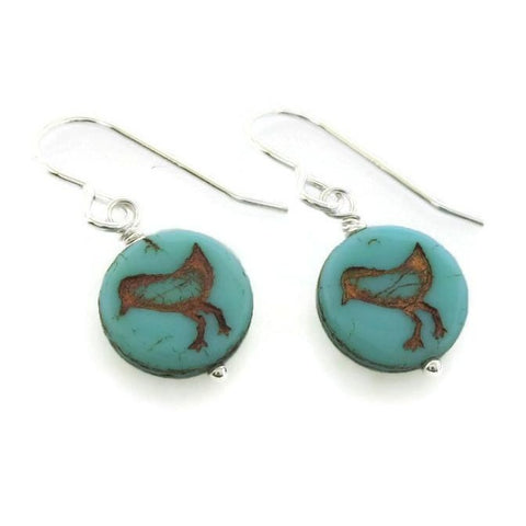 Blue Chick Earrings