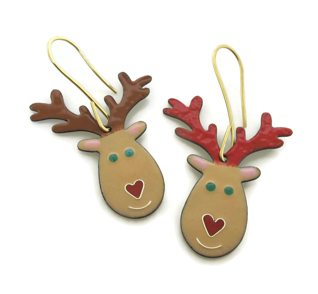Heart Nosed Reindeer Ornament